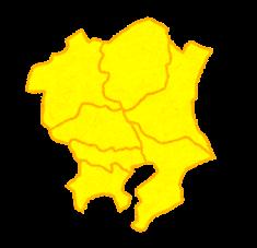 関東地図(県境あり)